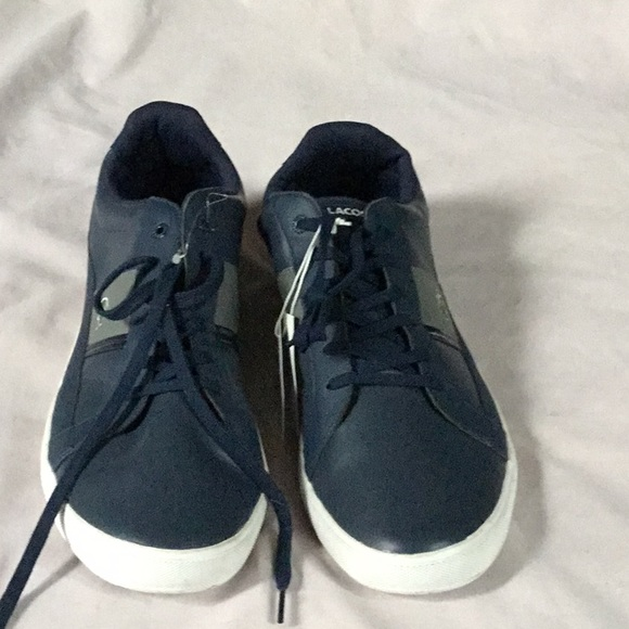 Navy Blue Leather Ortholite Sneakers